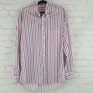 Burberry London white blue and pink striped shirt